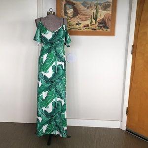 Tropical Botanical MUU-MUU Hawaiian Maxi Dress 14